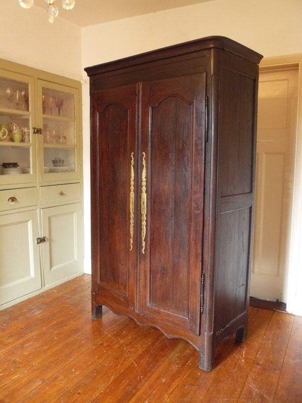 Painted antique French armoire