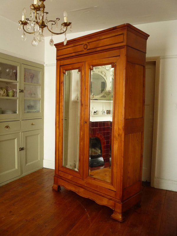 Antique Louis Philippe French Armoire Wardrobe