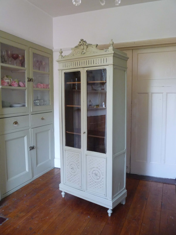 Painted Art Deco French armoire