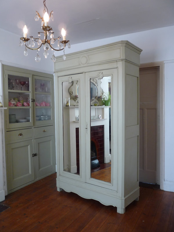 Painted French Armoire Linen Cupboard