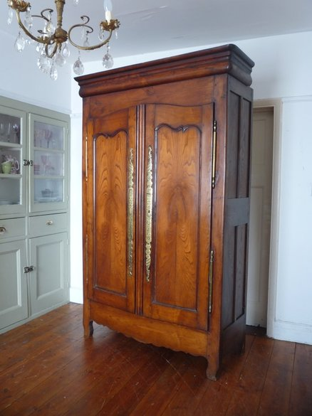 Antique French Armoire Linen Cupboard
