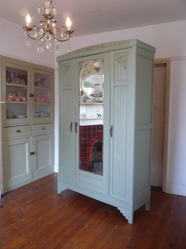 Painted Art Deco French wardrobe