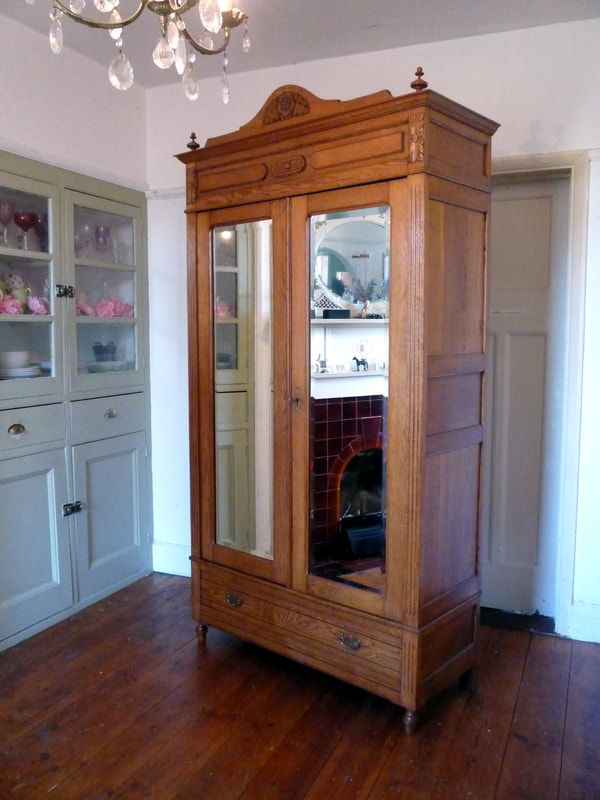 Antique Henri II French Armoire Linen Cupboard