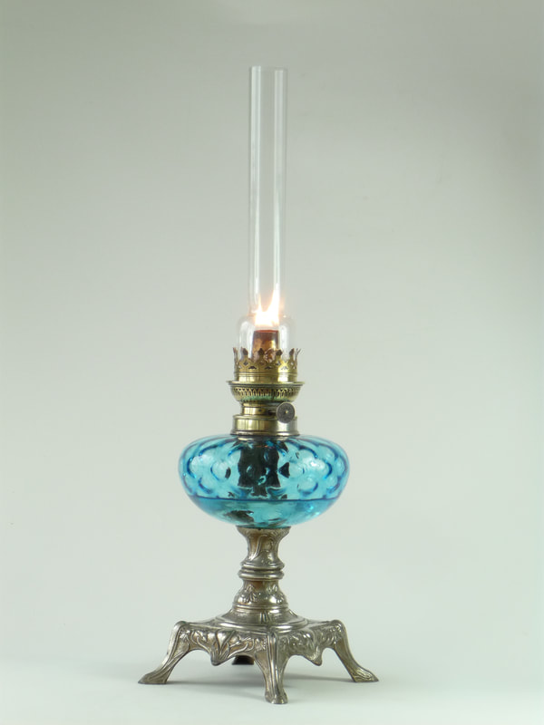 Antique French oil lamp