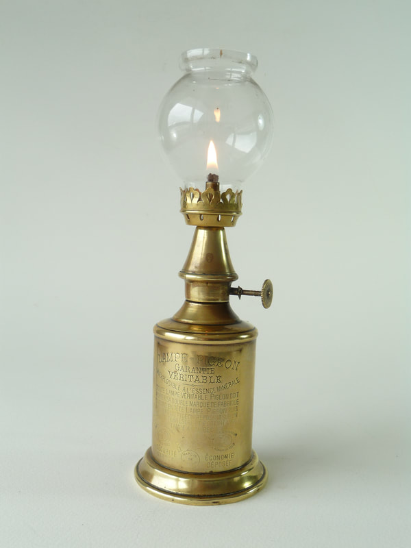Antique French 'Lamp Feutree Olympic'