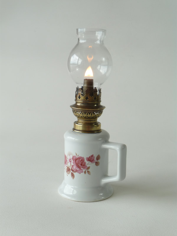 Vintage French Oil Lamp