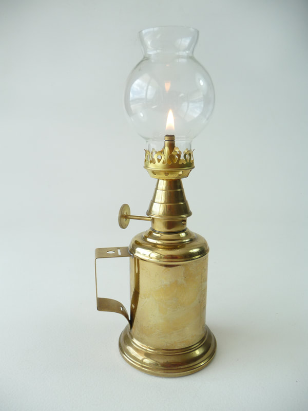 Antique French Olympe Oil Lamp