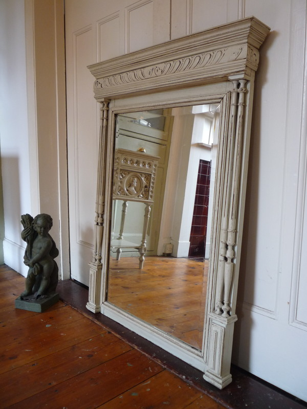 Painted French Henri II mirror