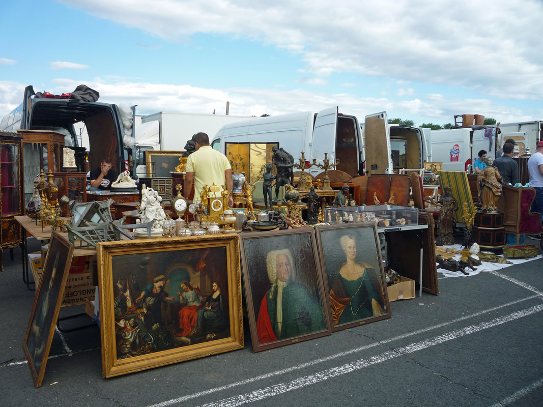 Buying at French brocante