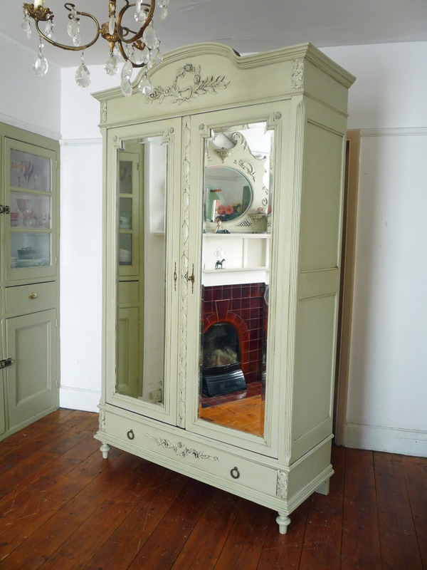 Painted Antique French wardrobe