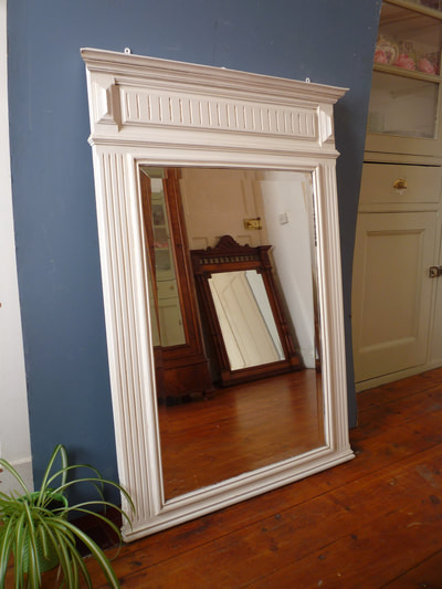 Painted Henri II Antique French Mirror