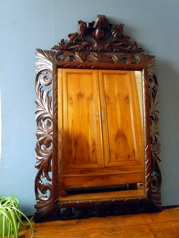 Antique French Acanthus Leaf Mirror