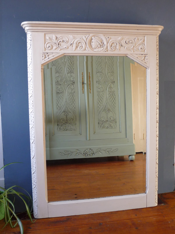 Antique Painted French Mirror