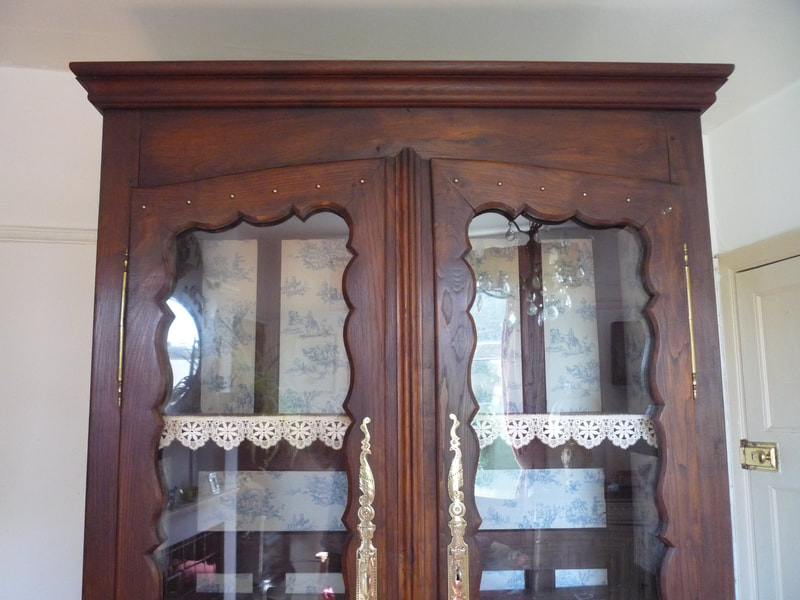 Antique French Armoire Vitrine