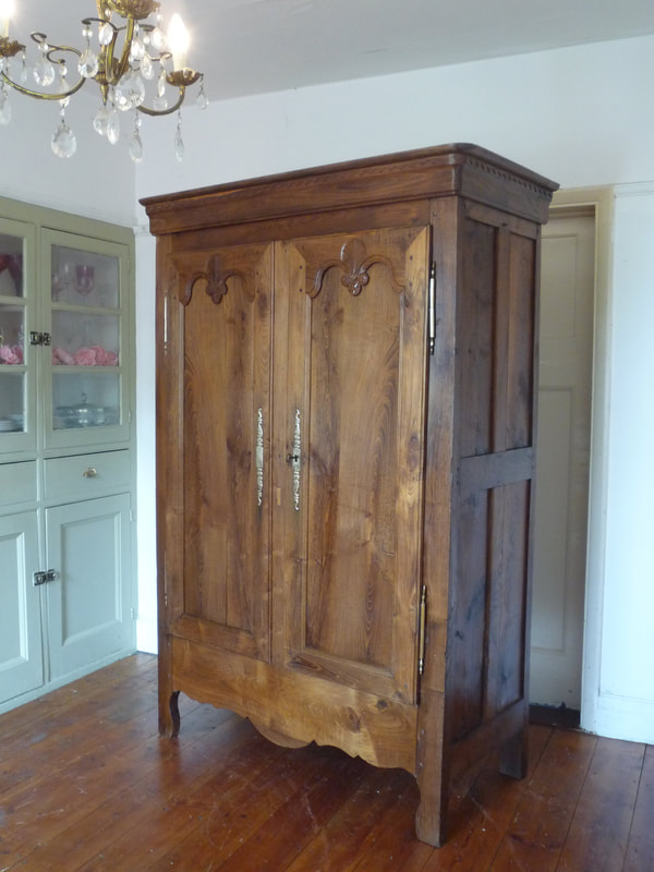 Small Provincal French Armoire Linen Cupboard
